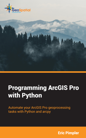 Programming ArcGIS Pro with Python