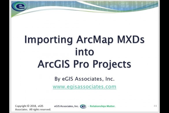 Importing ArcMap MXD Files into ArcGIS Pro Projects